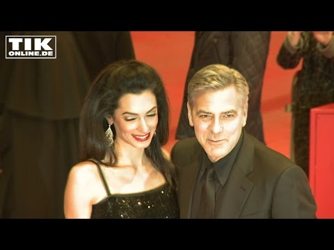 VERY NICE! George Clooney and his wife Amal at Berlinale opening 2016