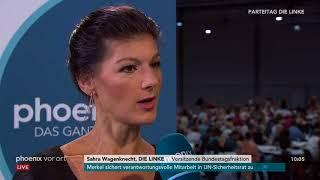Parteitag Die Linke: Sahra Wagenknecht im Interview am 09.06.2018