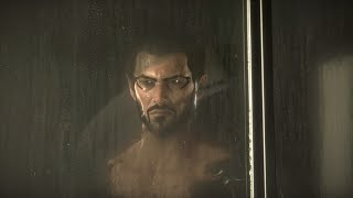 Adam Jensen takes a shower in Deus Ex Mankind Divided He even takes showers seriously And its amazing He never asked to be this clean