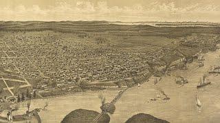 Tacoma Washington History and Map (1885)