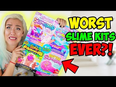 TESTING SLIME KITS! WORST SLIME EVER?! Cloud Slime, Butter Slime, Stress Balls