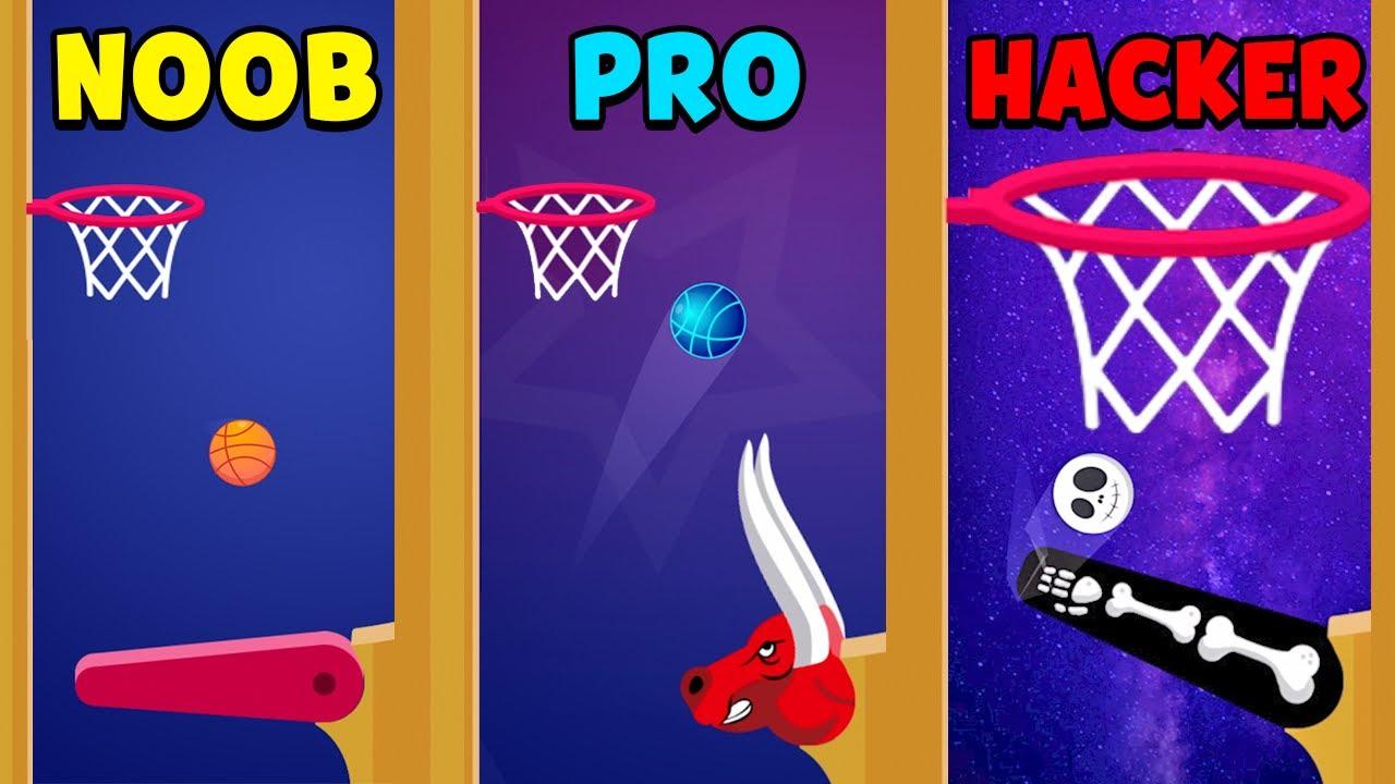 NOOB vs PRO vs HACKER - Flipper Dunk