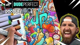 EPIC DUDE PERFECT DOODLE!! | Copic Marker Illustration - Shrimpy