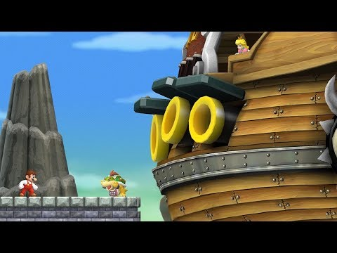 New Super Mario Bros. Wii - All Airships (Bowser Jr. Boss Battles)