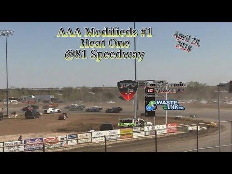 AAA Modifieds #1, Heat 1, 81 Speedway, 2018
