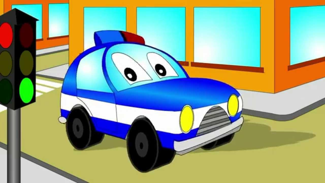 Мультик - Раскраска для малышей. Мультик про полицейскую ...