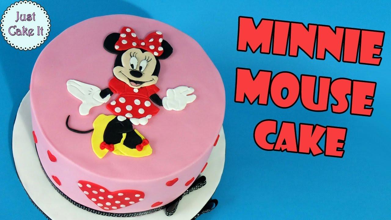 How To Make Minie Mouse Cake Tutorial Youtube