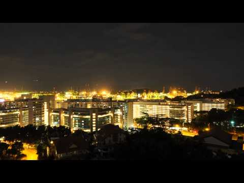 Time Lapse Singapore Bukit Purmei and Keppel Container Port