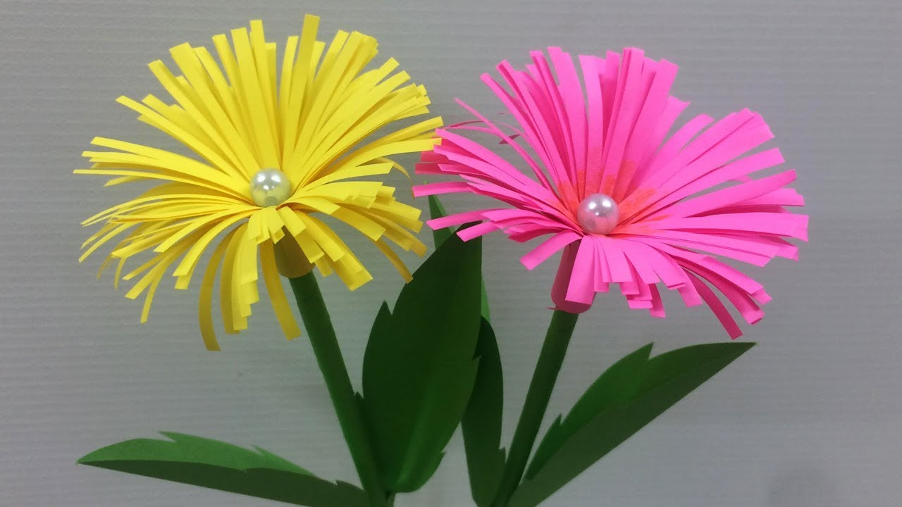 How To Make Easy Paper Flower Making Paper Flowers Step By Step Diy Paper Crafts