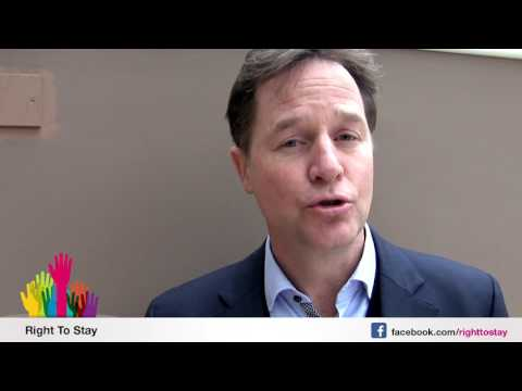 Nick Clegg about EU citizens living in the UK - Dutch