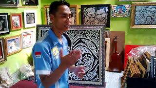 MOZZLE CRAFT Mozaik Koin Lukisan Wajah Mahar Pernikahan LAELLA & RACHMAT @TANGERANG 3 September 2016