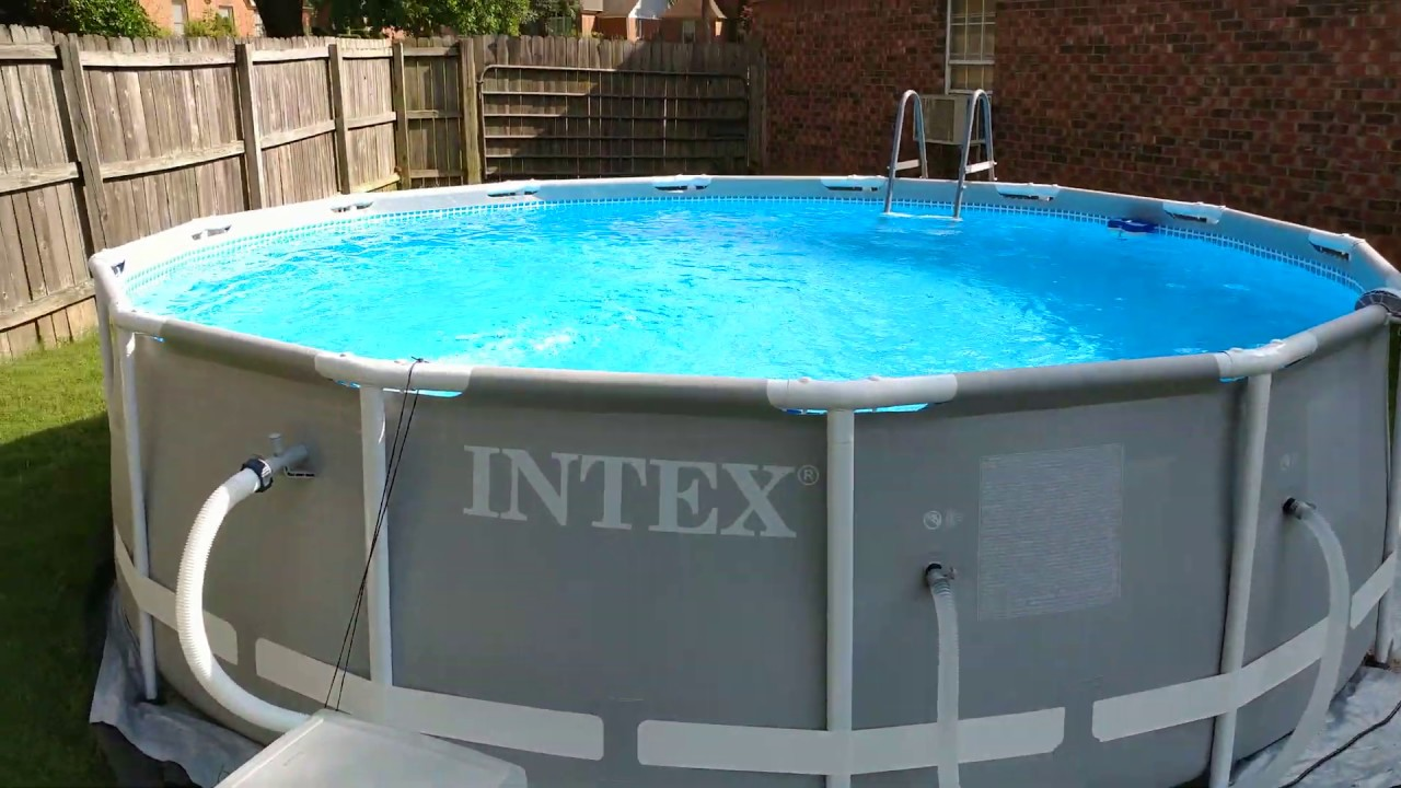Upgraded Intex Prism 14 X 42 Pool With 2500 Gph Filter