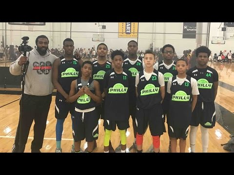 PHILLY TRIPLE THREAT vs NEW WORLD (2016 AAU HOOPS, 7th Grade) feat:  #11 JUSTICE WILLIAMS