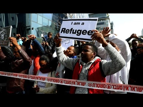 African migrants in Israel protest deportation
