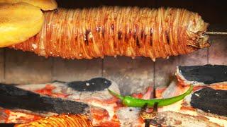 istanbul street food | lamb intestine sandwich (kokoreç) | turkey street food