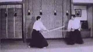 Katana Practice Sword Techniques (Old, B&W, No Sound)
