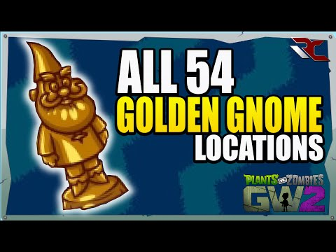 ALL 54 Golden Gnome Locations | Plants vs Zombies Garden War