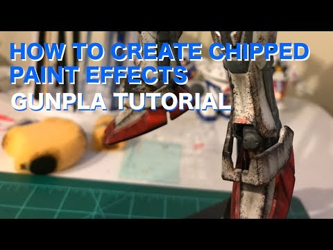 Gunpla Tutorial: How to create easy chipped paint effects using a sponge!