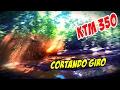 KTM 350 CORTANDO GIRO NA LAMA