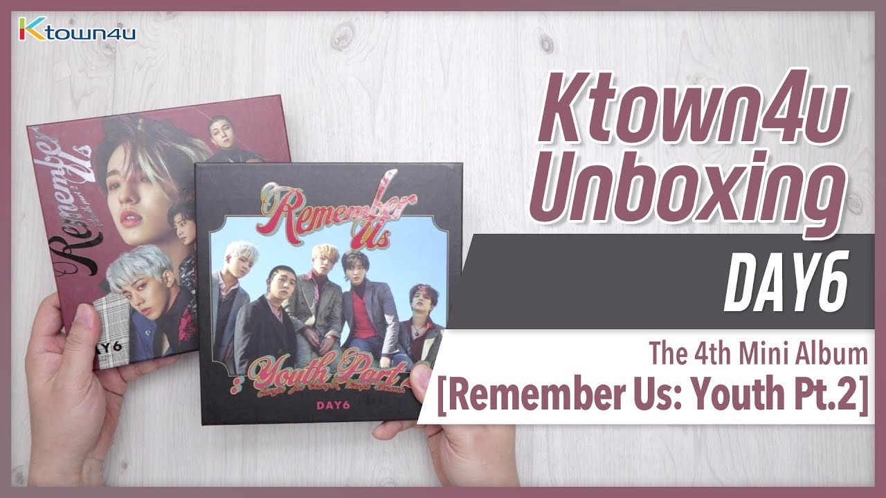 [Ktown4u Unboxing] DAY6 - 4th Mini Album [Remember us: Youth Pt 2] 데이식스 언박싱  KPOP