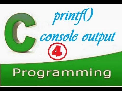 C programming video tutorial for beginners :  printf() function in c.