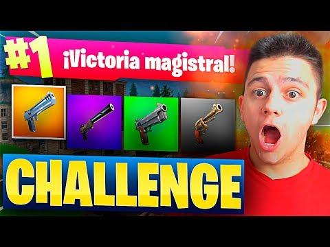 SOLO A PISTOLA CHALLENGE en FORTNITE: Battle Royale!!