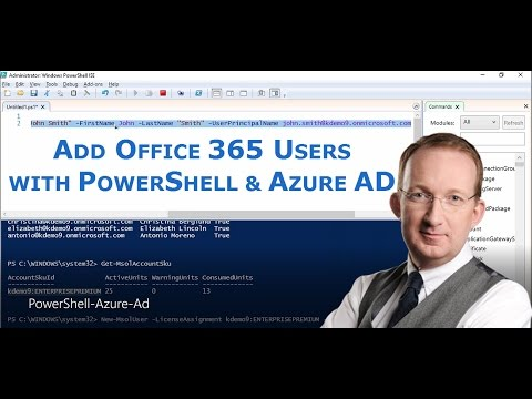 Add Users To Office 365 With PowerShell And Azure Ad