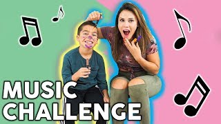 Andrea Espada Vs Son Music Challenge! PART 2!! | The Royalty Family