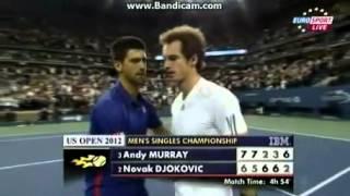 ANDY MURRAY WON US OPEN 2012 VS NOVAK DJOKOVIC - MATCH POINT