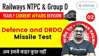 2 PM - RRB NTPC & Group D 2020 | Current Affairs by Ankit Avasthi | Defence and DRDO Missile Test