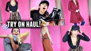 try on clothing haul fall winter 2017