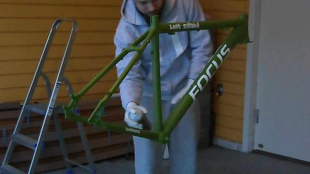 bike frame repaint pt 5 matte clear coat youtube. Black Bedroom Furniture Sets. Home Design Ideas