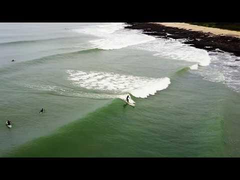 Brandon and Mandy Surf Jeffrey's Bay 16.4.2017