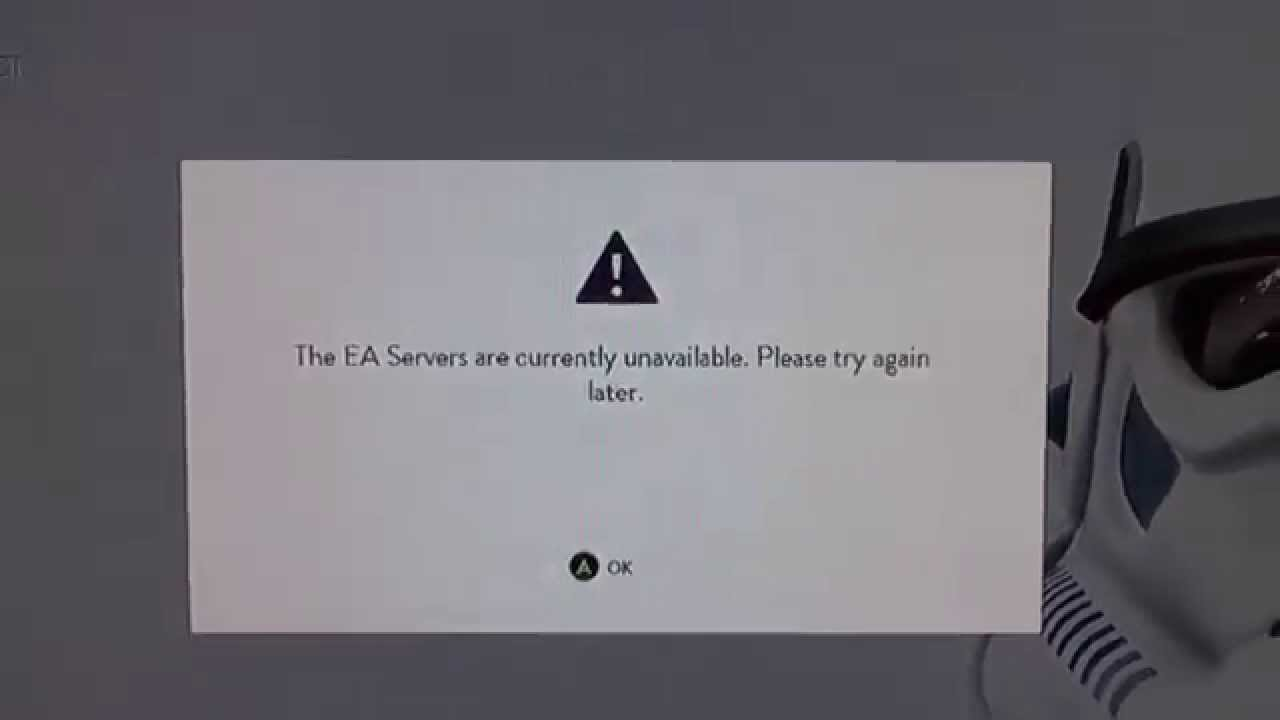 EA servers are currently unavailable FIX