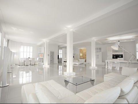 Интерьер белой комнаты