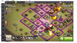 ataque mais sortudo do clash of clans(master of clash)
