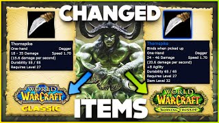 Items that get Changed in Burning Crusade Classic Pre Patch