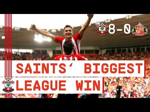 CLASSIC MATCH | Southampton beat Sunderland 8-0 for club's biggest ever Premier League win