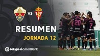 Resumen de Elche CF vs Real Sporting (0-1)
