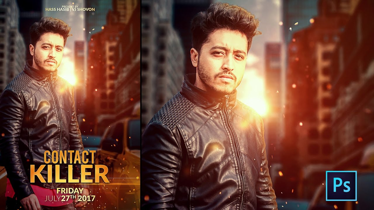 Movie Poster Photoshop Tutorial - Contact Killer