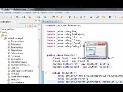 Java swing GUI tutorial #19: BoxLayout