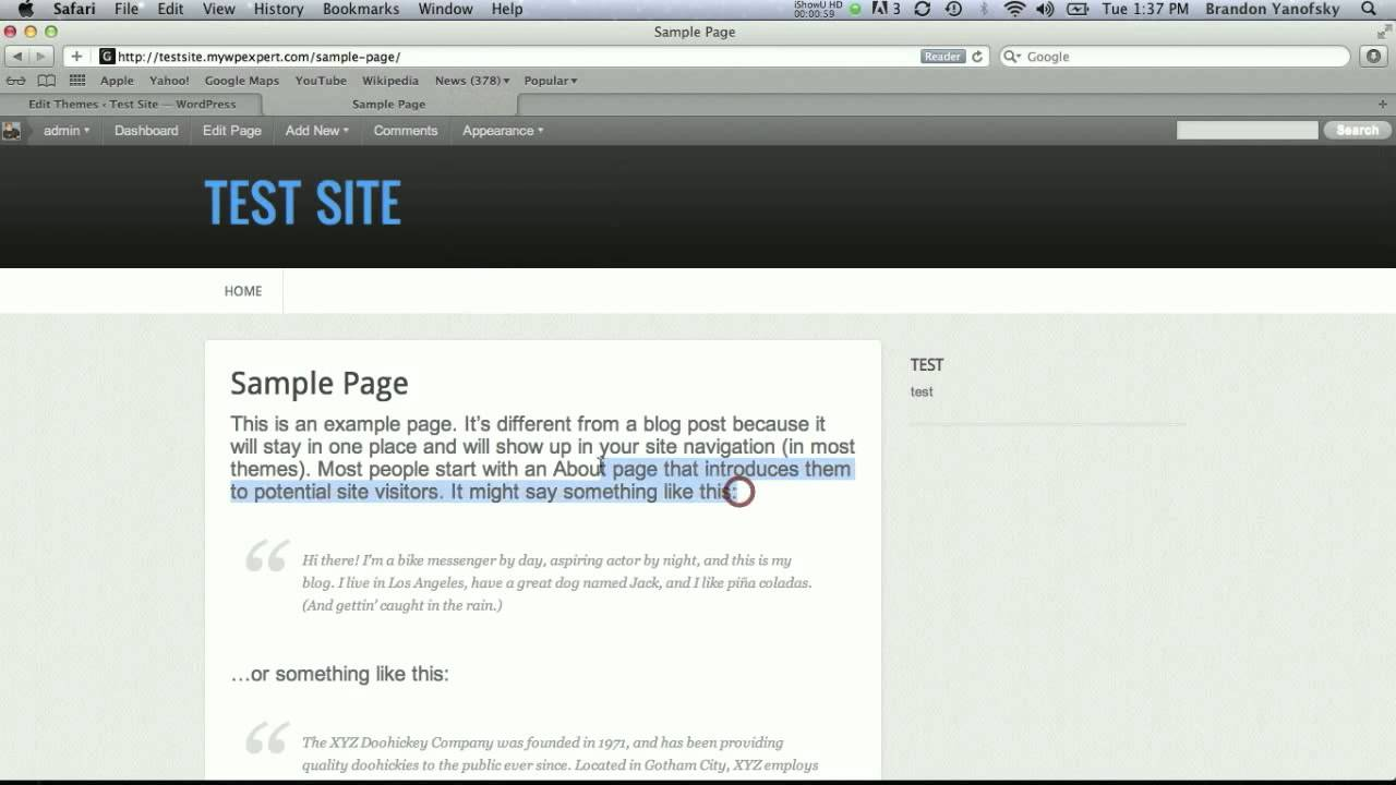 how to change textbox size in wordpress