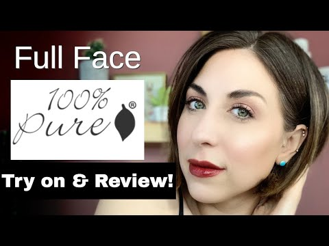 100% Pure Full Face Makeup Try On And Review!