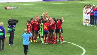 La celebración de la Sub-17 femenina... ¡Desde dentro!