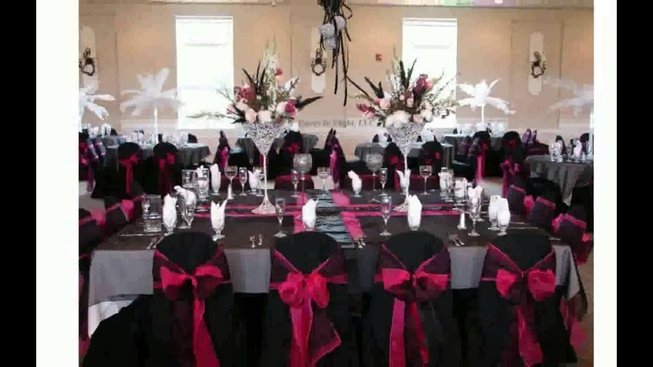 Pink wedding decoration ideas youtube for Red decoration for wedding
