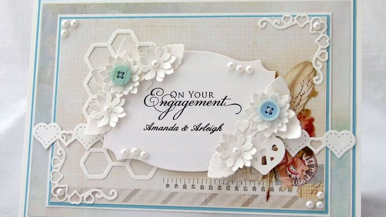 how to make a personalised engagement card diy crafts tutorial guidecentral - Engagement Cards