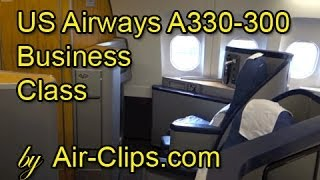 US Airways (American Airlines) A330 Business Class Frankfurt-Charlotte [AirClips full flight series]