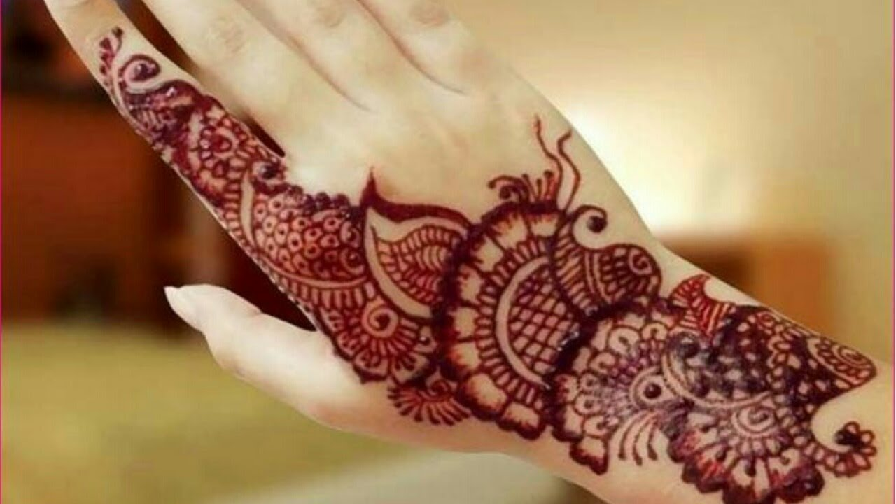 Simple Henna Designs for upper hand . Easy henna designs for beginners