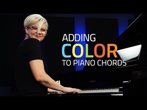 Adding Color To Simple Piano Chords (Piano Lesson)