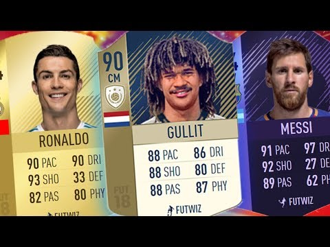 GULLIT ICON 90 + MESSI HERO + CRISTIANO RONALDO: ADDIO! - FIFA 18 Ultimate Team